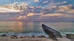 Sunset in Cuba - stock footage