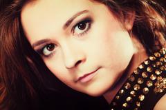 People concept - teenage girl portrait Stock Photos