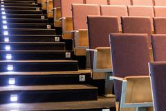 Modern auditorium for important conferences - stock photo