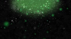 Green Dark Particles Background (seamless loop) Stock Footage