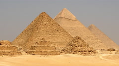 Zoom Out of the Great Pyramid - Giza Egypt - stock footage