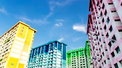 SINGAPORE - APRIL 13, 2015: Historical landmarks of Rochor Centre, to be demo Stock Footage