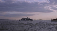 Boat Traffic in New York Harbor Stock Video Stock Footage