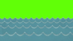 Windy Paper Sea Waves on a Green Screen Background Stock Footage