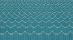 Beautiful Blue Paper Cardboard Sea Waves Background - stock footage