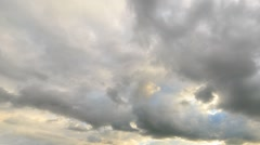 Clouds in the light of the setting sun. Time Lapse. Natural HDR - stock footage