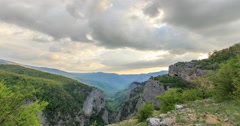 Grand Canyon of Crimea at sunset. TimeLapse. Natural HDR Stock Footage