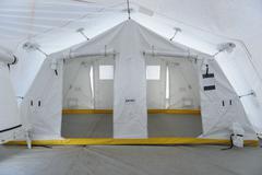 Emergency Response Team control tent Stock Photos