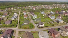 Houses in typical neighborhood suburban residence area, iconic aerial view. Stock Footage