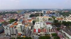 Aerial view of Ipoh city, Perak. Stock Footage