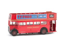 Miniature scale model of a vintage London City Tour open top sightseeing bus Stock Photos