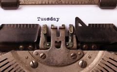 Wednesday typography on a vintage typewriter - stock photo