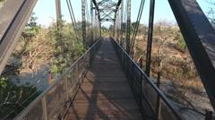 Aerial View of Bridge walk through Stock Footage