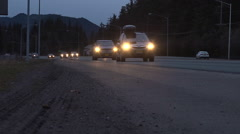 High Speed Traffic Time Lapse At Dusk Stock Footage