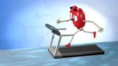 Cardiovascular exercise Stock Footage