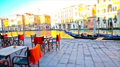 Venice, italy. beautiful square near rialto bridge Stock Footage