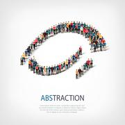 Abstraction people vector 3d Stock Illustration