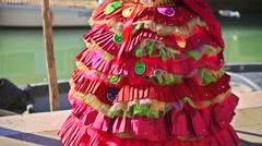 Burano, venice, italy, - 2015 venice, italy, carnival 2015, mask portrait Stock Footage