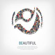 beautiful people sign 3d - stock illustration