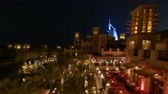 Dubai Skyline night time time lapse Stock Footage