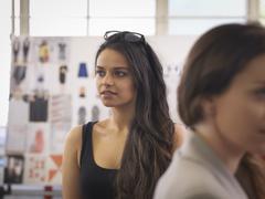 Fashion designers in fashion design studio Stock Photos