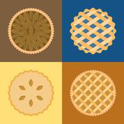 Pie icon set Stock Illustration