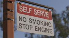 No Smoking Self Serve Sign Stock Footage