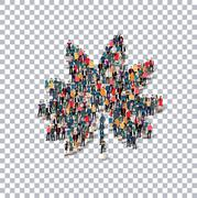 tree people Transparency 3d - stock illustration
