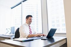 Business lawyer using laptop in office Stock Photos