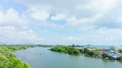 4K Time-lapse : Rayong river landscape near sea. Stock Footage