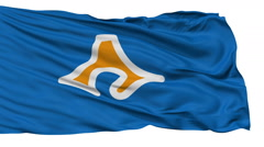 Shizuoka Prefecture Isolated Waving Flag - stock footage