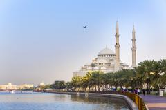 Al Noor Mosque, Sharjah, United Arab Emirates - stock photo