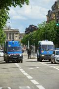 French police vans Stock Photos