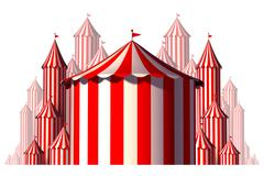Circus Tent Group Element Stock Illustration