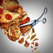 Cutting Calories - stock illustration