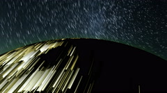 The stunning effects of star trails. Stock Footage
