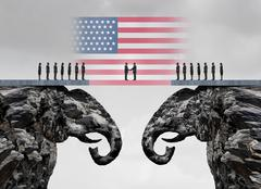 American Conservative Agreement Stock Illustration