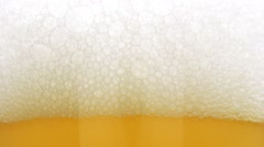 Beer Bubbles and Foam Stock Footage