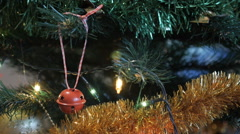 New Year, Christmas background - stock footage