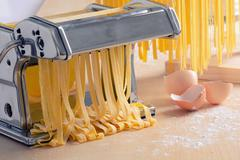 Preparation of homemade pasta Stock Photos