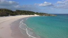 Famous Horseshoe Beach in Bermuda. Stock Footage