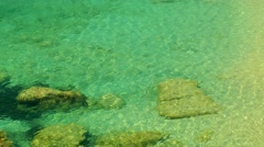 Coast,sea, wild beach in Montenegro Stock Footage