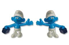 Smurfs fun toy dwarfs - stock photo