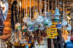 Traditional christmas market decoration Stock Photos