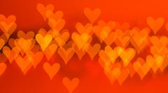 beautiful bokeh of lights on defocused background in a form of heart - stock photo