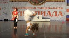 Little wild dancers. Little girls dancing Disco. Stock Footage