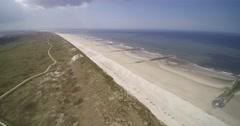 Vlieland Dunes coast protection beach north Stock Footage
