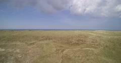 Vlieland Holland coast protection Dunes beach sea shot Stock Footage