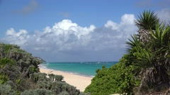 Warwick Long Bay Beach in South Shore National Park. Bermuda. - stock footage