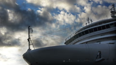 Bridge and the bow of the cruise ship liner Arkistovideo